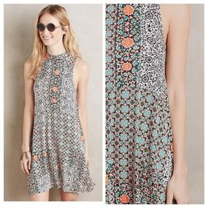 Anthro Maeve Tilt Sleeveless Printed Swing Dress